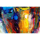 Framed Canvas Fine Art Print Abstract Painting Texture