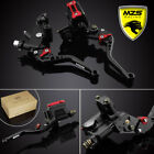 Brake Clutch Master Cylinder Reservoir Levers CNC For Yamaha YZF R1 R6 Honda CNC $66.49 USD