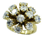 White CZ Gold Plated Ring mesmeric White suppiler AU K,M,O,Q