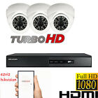 3x HD 1080P CCTV CAMERA SYSTEM DOME 4CHN DVR HIKVISION RECORDER HDMI P2P OUTDOOR