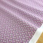 mini print lilac floral fabric sold per 1/2 metre/fat quarter 100 % cotton