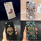 Handmade Fashion Bling Diamond Crystal Pearl Hard Back Case Cover for Cell Phone