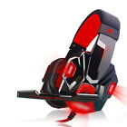 Surround USB 3.5mm LED Stereo Gaming Headset Headband Headphone with Mic For PC