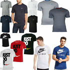 New Mens Nike Tee T-shirt Top Retro Gym Sports White Grey Blue S M L XL XXL
