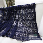 village blue cotton lace Crochet Home Kitchen Sheer Cafe Curtain 17021911