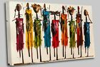African Masai Tribe Canvas Art High Quality Great Value