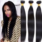 3 bundles Straight Unprocessed Virgin Brazilian Real Human hair extensions 150g