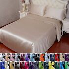 3pcs 16 Momme 100% Pure Silk Duvet Quilt Doona Cover Pillow Case Set With Seam