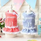 Petstyle Spring Summer Dog Dress Pocket Cat Skirt Pet Clothes  XS S M L XL