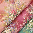 Japanese Cotton Fabric FQ Retro Oriental Flower Field Dress Quilt FabricTime VJ9