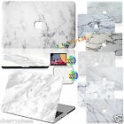 """Luxury Skin White Marble Painting Hard Rubberized Case cover For Macbook 11""""-15"""""""