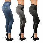 Slim Damen Jeans Jeansoptik Stretch Leggings Jeggings 3er Pack