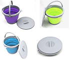 Summit Collapsible Folding Pop-Up 5L Buckets Lids Purple Green Blue Camping NEW