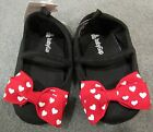 NWT Baby Gap Disney Minnie Mouse Red Heart Bow Crib Shoes 12-18 mo OR 18-24 mo