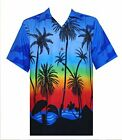 Hawaiian Shirt 5 Mens Allover Coconut Tree Print Beach Aloha Party