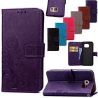 Floral Show Leather Index card Pocketbook Seductive Envelope Stretch over For Samsung Galaxy Phones