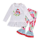 Newborn Owl Toddler Kids Baby Girls Outfits Clothes T-shirt Tops+Pants 2PCS Set