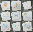 ---  Thank You Cards -- 6 Pack - General / Baby / Wedding -- Various Designs ---
