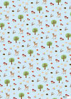 dotcomgiftshop 5 SHEETS OF WRAPPING PAPER. WOODLAND ANIMALS DESIGN GIFT WRAP