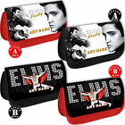 ELVIS PRESLEY PERSONALISED Pencil Case Make Up Bag Add Any Name text Makeup Gift