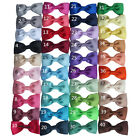 "3"" Inch Classic Ribbon Hair Bow Alligator Clip Grip Slide  40 Colours  UK Stock"
