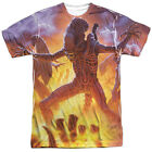 Alien Movie LIGHTNING AND FIRE 1-Sided Sublimated Big Print Poly T-Shirt
