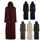 Womens Ladies Open Abaya Cardigan Plain Outdoor Kaftan Gown Dress Overcoat Pocke