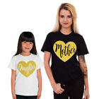 Mother Daughter Matching T-shirts Glitter Mothers Day Gift Christmas 72
