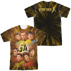 Star Trek Original Series 50TH ANNIVERSARY CREW 2-Sided Big Print Poly T-Shirt