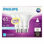 3 to 48 pk PHILIPS LED BR30 Daylight 9 WATT = 65W Dimmable Flood Light Bulb