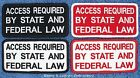 ACCESS REQUIRED BY STATE AND FEDERAL LAW SERVICE DOG PATCH 2x4 in Danny & LuAnns