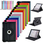 Luxury Leather 360 Rotating Folio Stand Protector Case Cover For iPad Mini 1 2 3