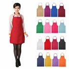 Adults Plain Apron Pocket Chefs Butcher Kitchen Cooking Craft Catering Baking