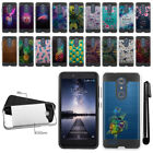 For ZTE Zmax Pro Carry Z981 Shockproof Brushed Hybrid Protector Cover Case + Pen
