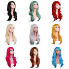 Girl Women Long Hair Wig Curly Wavy Synthetic Anime Cosplay Party Lady Full Wigs