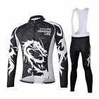 Dragoon Fleece Thermal Winter Cycling Jersey Bike Long Sleeve Clothing Set Pants