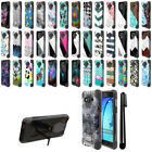 For Samsung Galaxy On5 G550 G500 Hybrid Dual Layer Kickstand Case Cover + Pen
