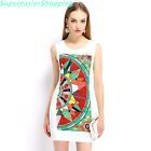 Women Summer OL Pencil Dress Sleeveless Fashion Printing Casual Party Dresses