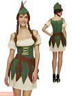 Ladies Sexy Robin Hood Costume Adults Fever Medieval Warrior Fancy Dress Womens