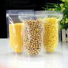 Clear Stand Up Zip Lock Bags Plastic Pouches Food Storage Packaging Resealable