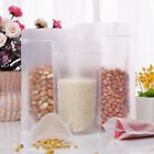 Matte Clear Stand Up Plastic ZipLock Bags Resealable Food Pouches VARIOUS SIZES
