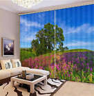Gallery Summer Meadow 3D Blockout Photo Printing Curtains Draps Fabric Window