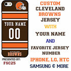 Custom CLEVELAND BROWNS Phone Case Cover w Your Name & Jersey Number IPhone