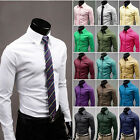Quality Business Luxury Shirts Men Casual Formal Slim Fit Shirt Top S M L XL XXL