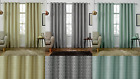 PHOENIX TWO TONED PLAIN RING TOP EYELET THICK CHENILLE LOOK THERMAL CURTAINS NEW