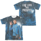 Star Trek Original Series Spock Picture LIVE LONG 2-Sided Poly Cotton T-Shirt on eBay