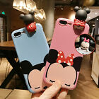 3D Cartoon Disney Mickey Minnie Winnie TPU Case Cover For iPhone 7 7Plus 6 6s