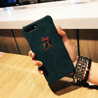 For iPhone7 7Plus 6 6s Plus Corduroy animals Embroidery Korean Style Case Cover
