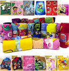 Girls / Boys Disney Cartoon Official Kids Characters Soft Fleece Blanket Throws