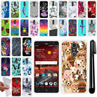 For ZTE Grand X 4 X4 Z956 Z957 Damon TPU SILICONE Protective Case Cover + Pen